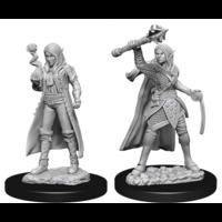 Unpainted Miniatures - Elf Female Cleric (5E)