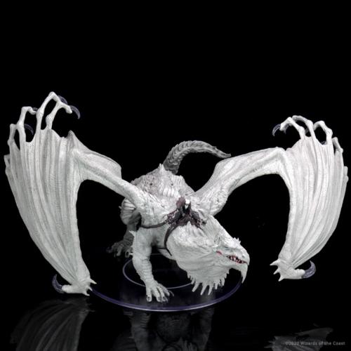 Wizk!ds Arveiaturace (Gargantuan White Dragon, painted) - D&D Icewind Dale Premium Figure