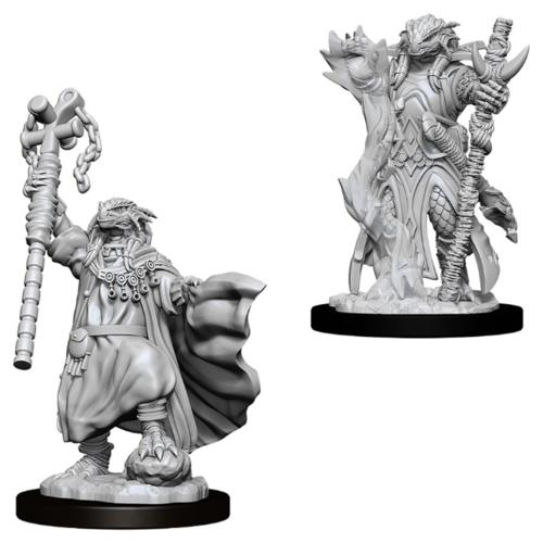 Wizk!ds Unpainted Miniatures- Dragonborn Female Sorcerer (5E)