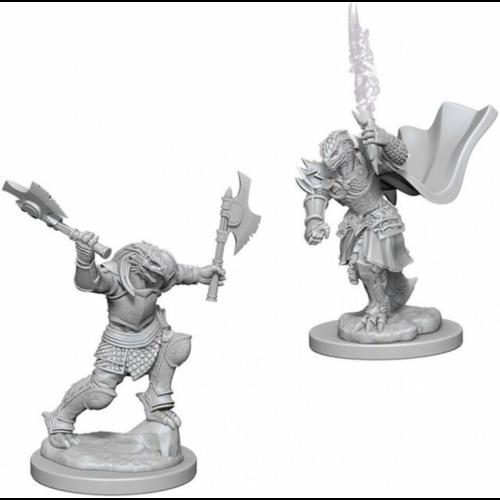 Wizk!ds Unpainted Miniatures- Dragonborn Female Fighter