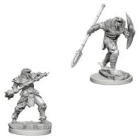 Unpainted Miniatures- Dragonborn Male Fighter (5E)