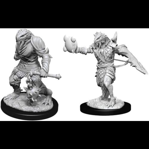 Wizk!ds Unpainted Miniatures- Dragonborn Male Paladin (WZK90002)