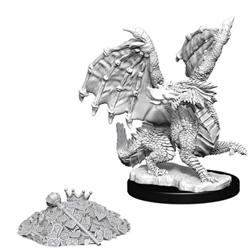 Wizk!ds Unpainted Miniatures - Red Dragon Wyrmling