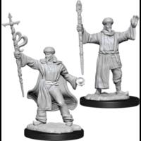 Unpainted Miniatures- Human Male Wizard (5E)