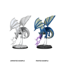Unpainted Miniatures- Young Blue Dragon