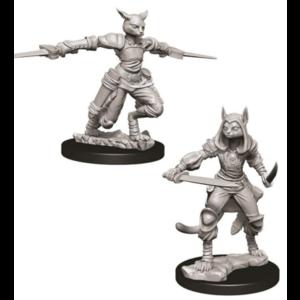 Wizk!ds Unpainted Miniatures- Tabaxi Female Rogue