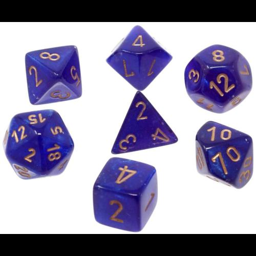 Chessex Borealis Poly set Royal Purple/gold Luminary