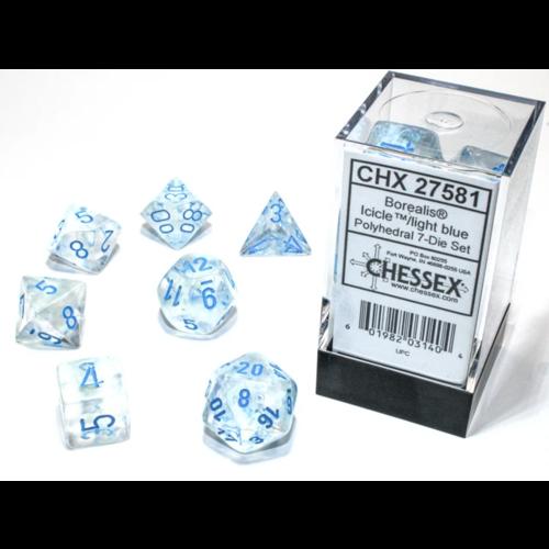 Chessex Borealis Poly set Icicle/Light Blue Luminary