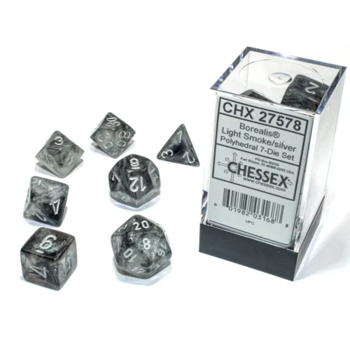 Chessex Borealis Poly set Light Smoke/Silver Luminary