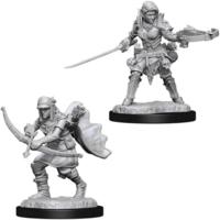 Unpainted Miniatures- Half-Elf Female Ranger
