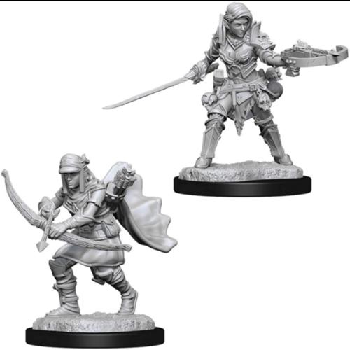 Wizk!ds Unpainted Miniatures- Half-Elf Female Ranger