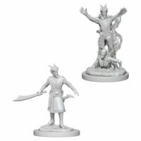 Unpainted Miniatures- Tiefling Male Warlock