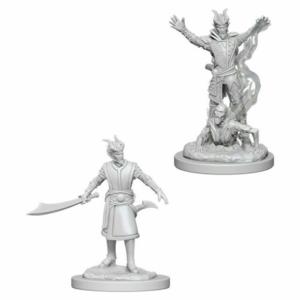 Wizk!ds Unpainted Miniatures- Tiefling Male Warlock