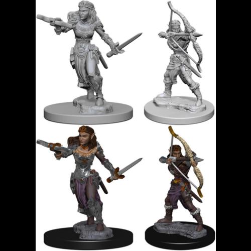 Wizk!ds Unpainted Miniatures- Elf Female Ranger