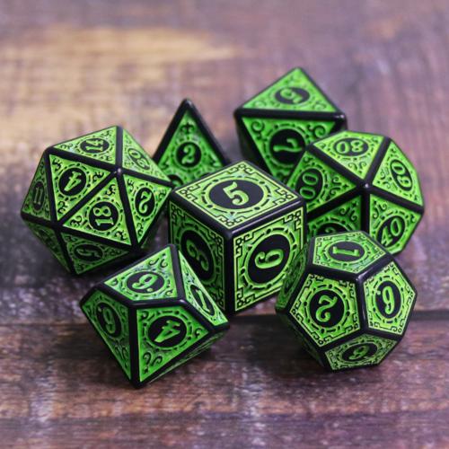 Magic Flame Green Dice Set