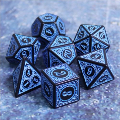 Magic Flame Blue Dice Set