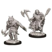 Unpainted Miniatures- Half Orc Male Barbarian (5E)
