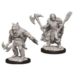 Wizk!ds Unpainted Miniatures- Half Orc Male Barbarian (5E)