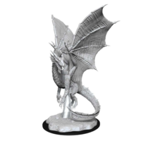 Unpainted Miniatures - Young Silver Dragon