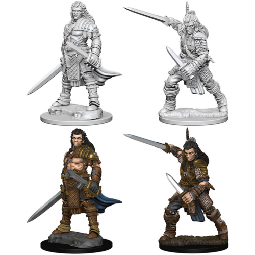 Wizk!ds Unpainted Miniatures- Human Male Fighter