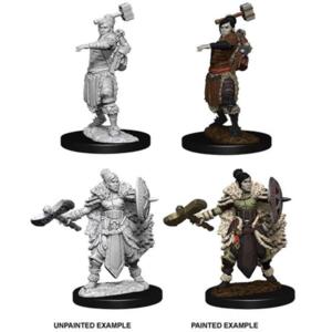 Wizk!ds Unpainted Miniatures- Half-Orc Female Barbarian
