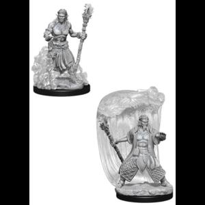 Wizk!ds Unpainted Miniatures- Water Genasi Male Druid