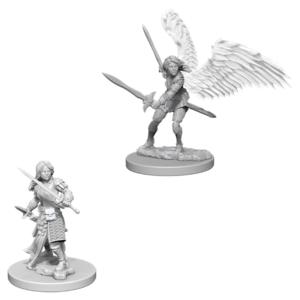Wizk!ds Unpainted Miniatures- Aasimar Female Fighter