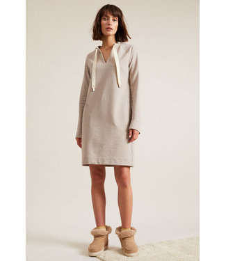 Lanius Jurk Sweatdress cream melange