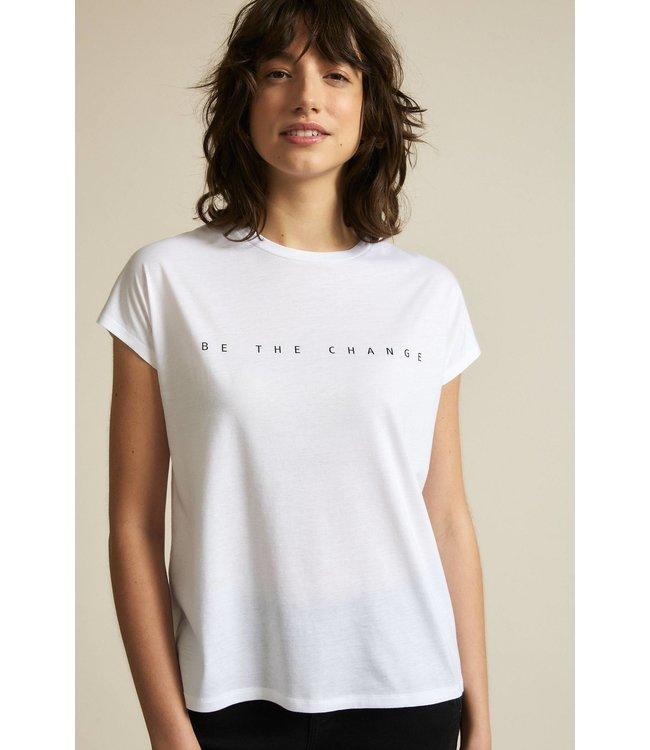 Lanius T-shirt Statement CHANGE
