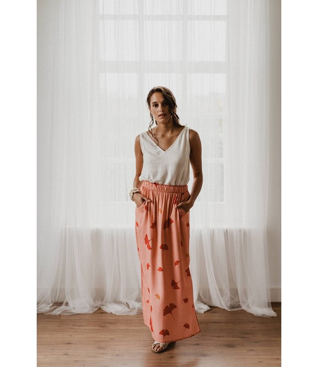 J-Label Maxi skirt Gurdeep Ginkgo