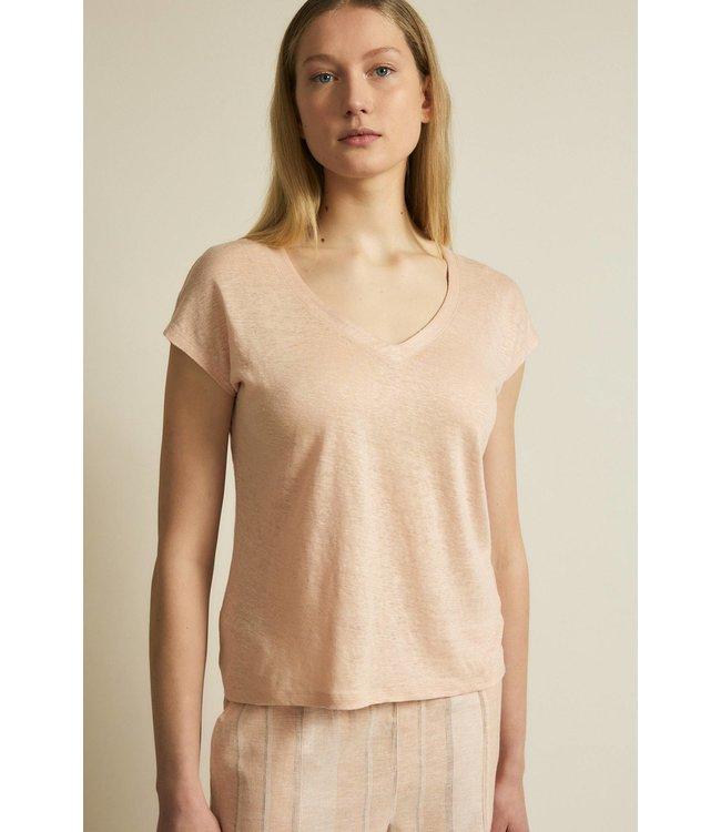 Lanius Shirt mit V-ausschnitt Rose