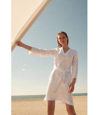 Lanius Kleid mit Gurtel White