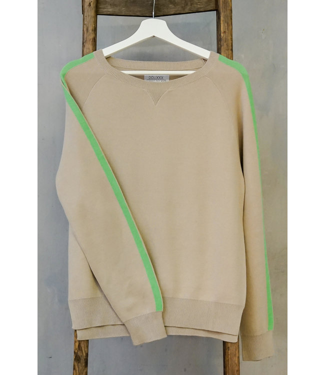 DOUXXX Sweater Striped Soft Sand