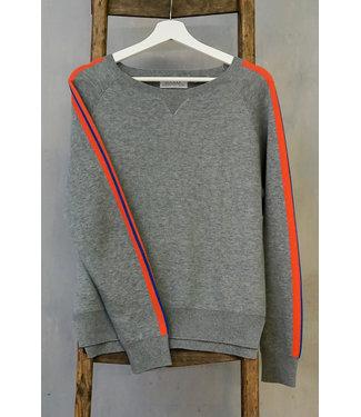 DOUXXX Sweater Striped Grey Melange