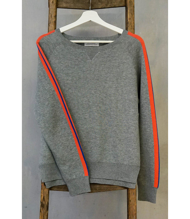 DOUXXX Sweater Striped Grey Melange