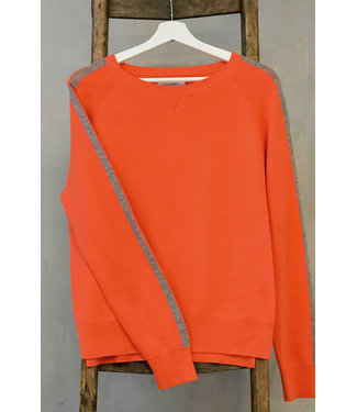 DOUXXX Sweater Striped Clean Coral