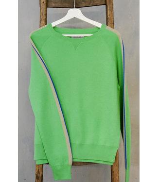 DOUXXX Sweater Striped Happy Green