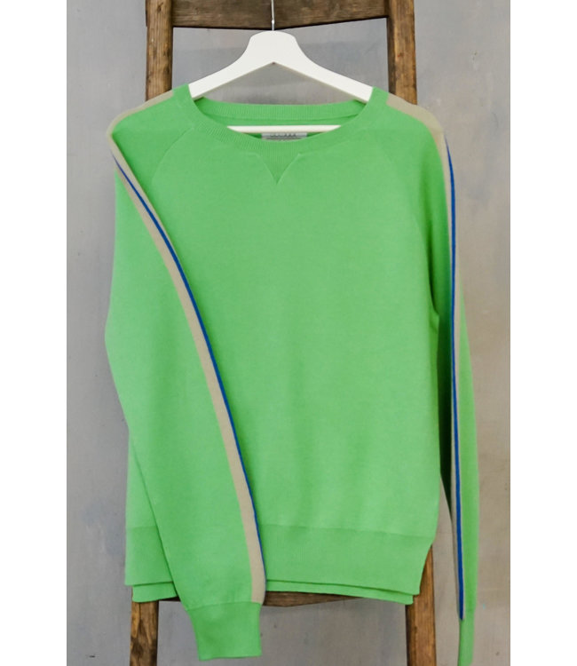 DOUXXX Sweater Striped Happy Green