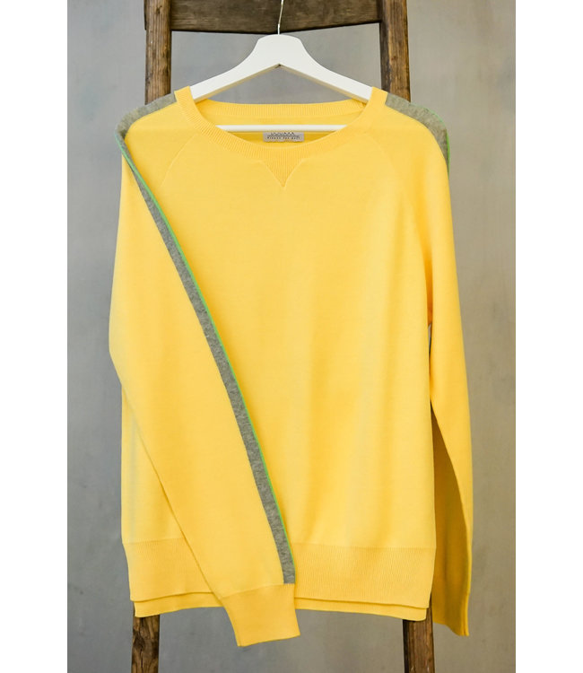 DOUXXX Sweater Striped Sunny Yellow