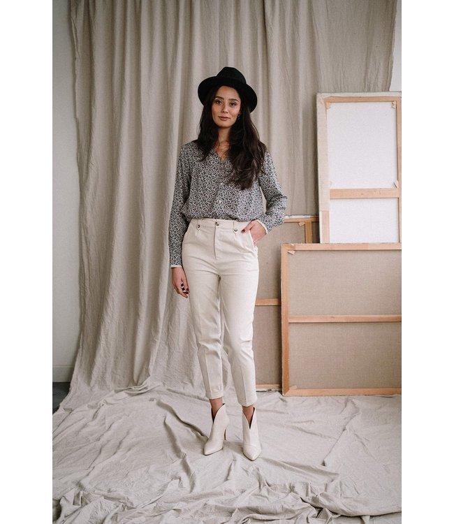 J Label Gizem pants off white