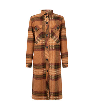 Elements of Freedom Coat Porto Checked Brown and Rust