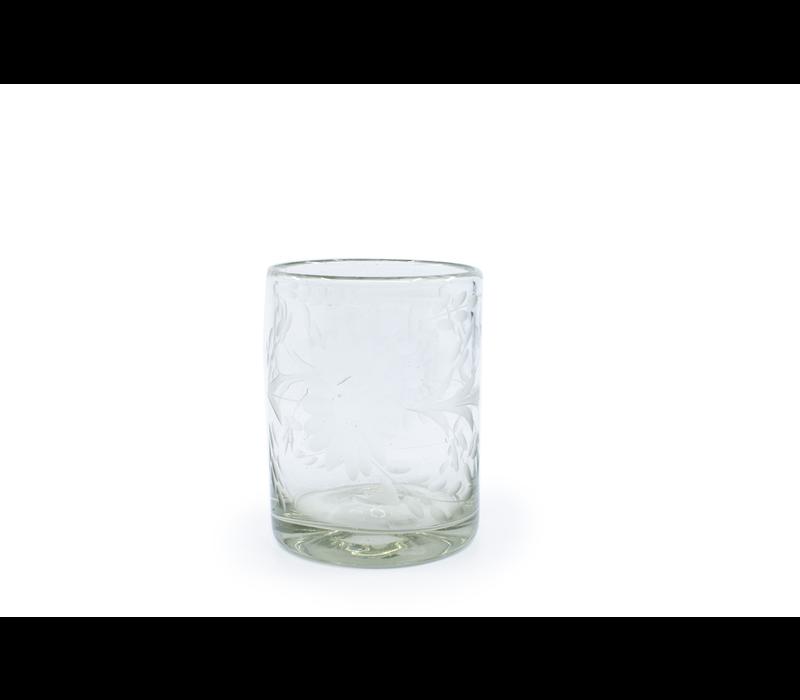 Tumbler Glass Flores