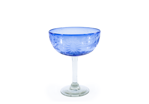 Cobalto Margarita Glass Flores