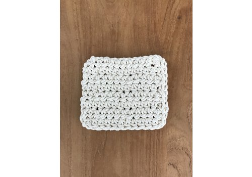 Blanco Crudo Macrame Coasters - Set of 6