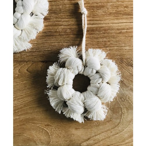 Cotton Snow Flake Hoop - Small