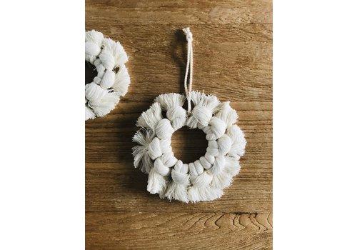 Blanco Crudo Cotton Snow Flake Hoop - Large