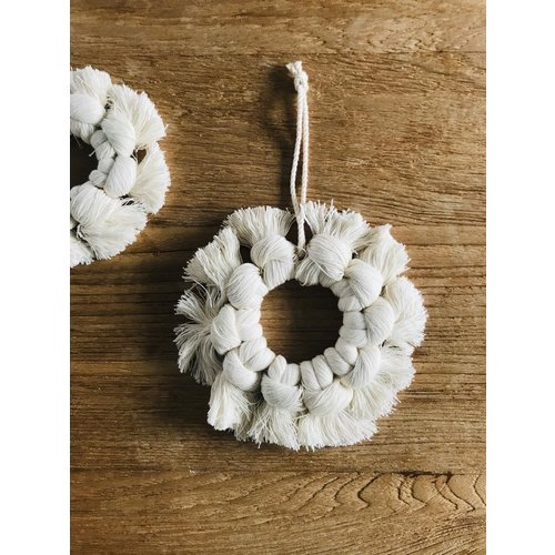 Cotton Snow Flake Hoop - Large