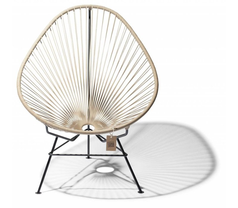 Acapulco Lounge Chair Black/Beige