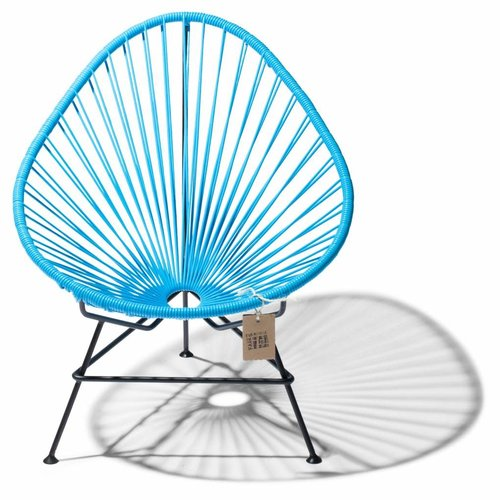 Acapulco Lounge Chair Black/Heaven Blue
