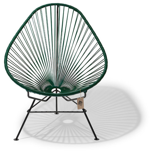 Acapulco Lounge Chair Black/Dark Green